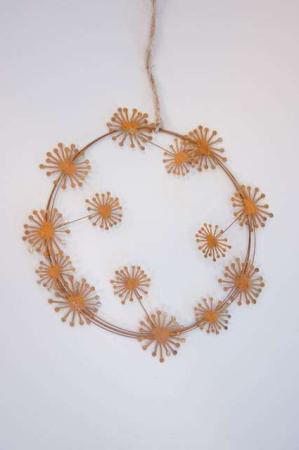 deko krans af metal rust - dekorationskrans fra 2Have