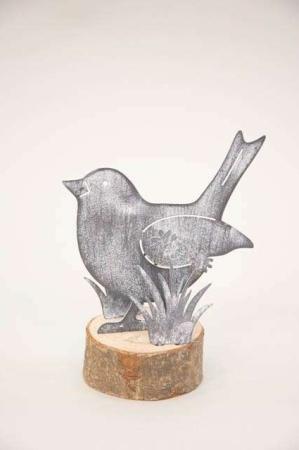 fugl af metal og træ - pyntefigur fra 2Have