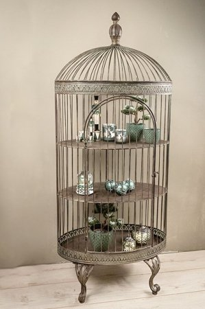 Deko fuglebur i jern. Dekorativt fuglebur antik stil