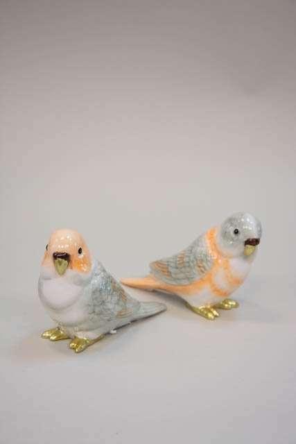 Undulatpar. Keramik fugle. Undulat