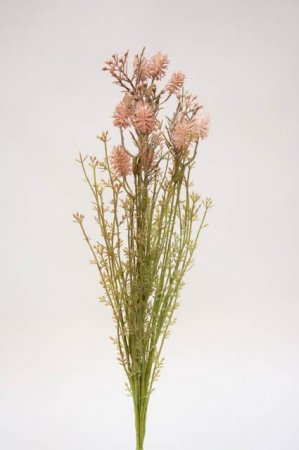 Buket i nude rosa nuancer. Kunstige blomster rosa nude farver