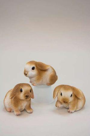 Søde kaninunger. Påskeharekillinger til påskepynten.