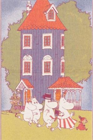 Økologisk babytæppe af bomuld fra Ekelund - MOOMIN HOUSE - Mumitroldene.