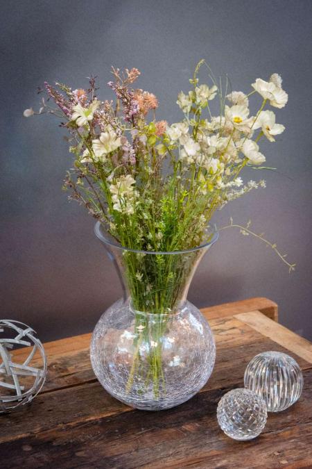 Boligdekoration med tørrede blomster