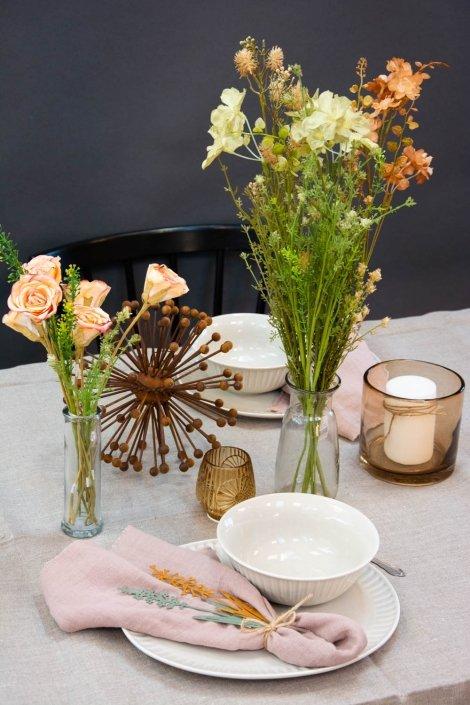 Inspiration til bordpynt med tørrede blomster