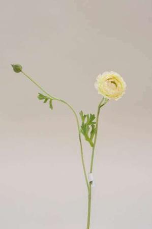 Kunstige blomster - ranunkel. Buket med kunstige ranunkler - hvid og rosa.