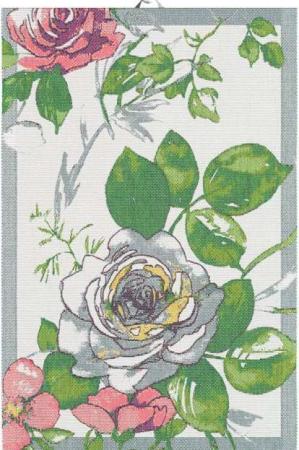 Lækkert bomuldshåndklæde med blomster - ASTRID. Håndklæde af 100% økologisk bomuld fra Ekelunds.