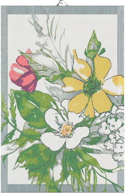 Lækkert håndklæde med blomster - SIGRID. Håndklæde af 100% bomuld fra Ekelund.