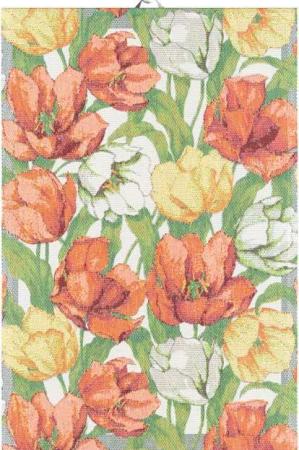 Lækkert håndklæde med blomster - tulipaner. Håndklæde af 100% bomuld fra Ekelund.