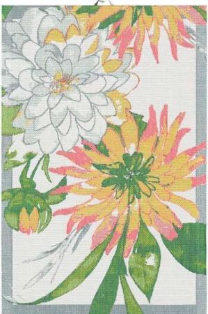 Lækkert håndklæde med blomster. Håndklæde af 100% bomuld fra Ekelund.