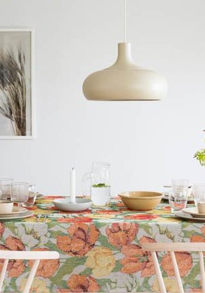 Økologisk stofdug fra Ekelund med motiv af tulipaner
