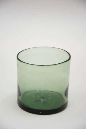 Tykt hurricane glas fra Ib Laursen - grøn