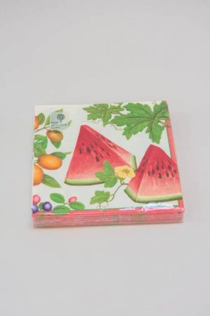 Frokostservietter med eksotiske frugter