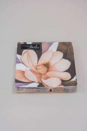 Servietter med magnolie. Frokostservietter - rosa
