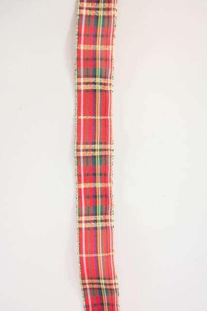 Bånd med skotsktern fra Sae Il. Bånd til dekorationer og gaver.