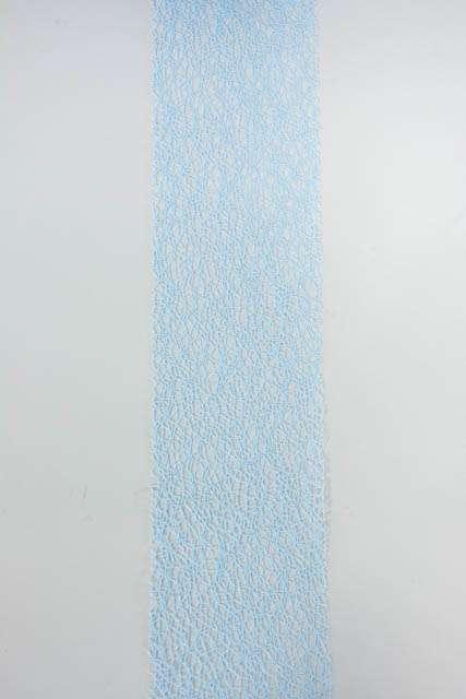 Bredt blåt dekorationsbånd med mønster fra Sae Il. Bredt bånd til dekorationer og gaver