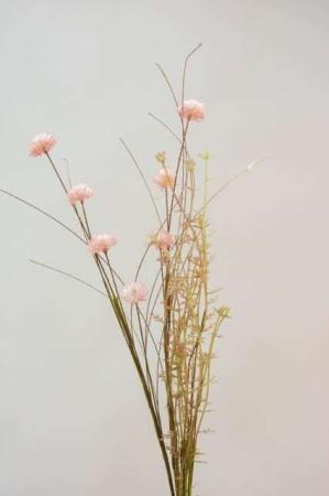 Lyserød buket af kunstige blomster fra Ib Laursen. Smuk evighedsbuket