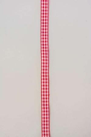 Rødt hvidt ternet dekorationsbånd fra 2Have. Smukt bånd til dekorationer og gaver.