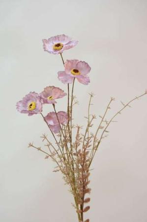 Rosa buket af kunstige blomster fra Ib Laursen. Smuk evighedsbuket