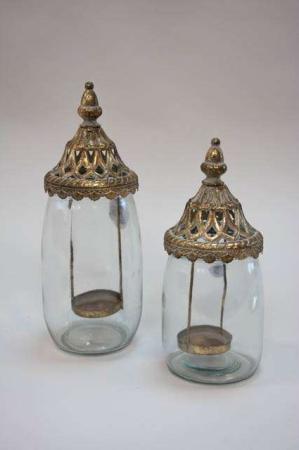 Guld metal lanterne antik look