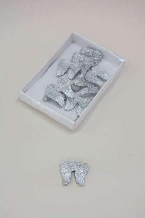 Bordpynt - sølvfarvet englevinger