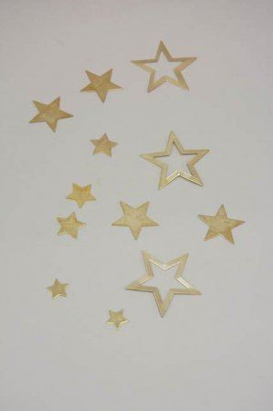 Bordpynt - små guld stjerner til at drysse på bord