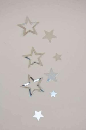 Bordpynt - små sølv stjerner til at drysse på bord