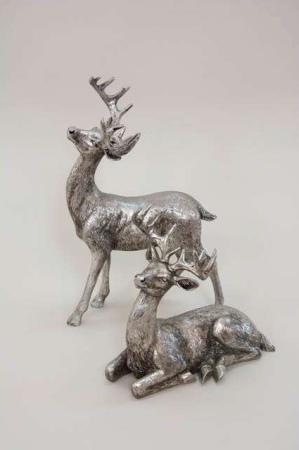 Deko sølv rensdyr antik look