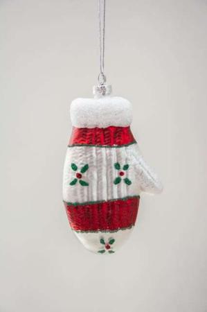 Glas julekugle handske