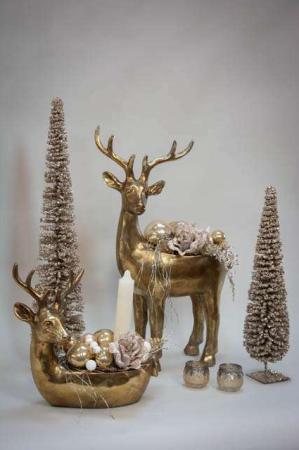 Guld rensdyr til planter og dekorationer