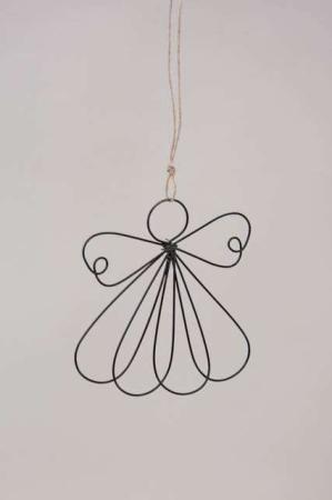 Juleophæng - engel af ståltråd