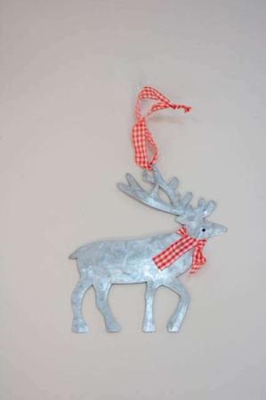 Juleophæng - rensdyr af zink