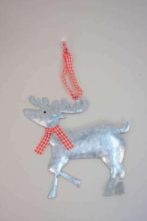 Juleophæng - hjort af zink