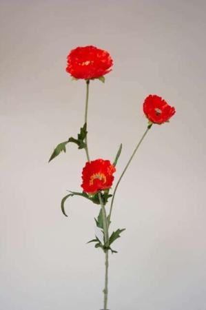 Kunstig blomst - valmue