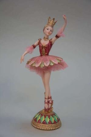 Rosa julefigur af balletprinsesse.