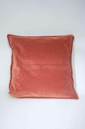 Rustfarvet pudebetræk fra ib laursen. Rødt velour betræk