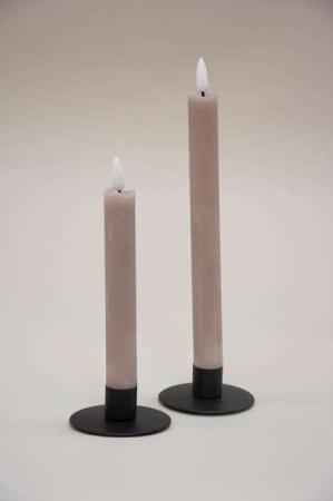 Små LED stearinlys med statisk flamme og timer funktion - Sand