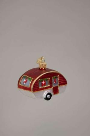 brink nordic glas julekugle - campingvogn