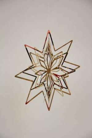 3D julestjerne - guld