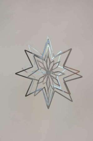 3D julestjerne - sølv