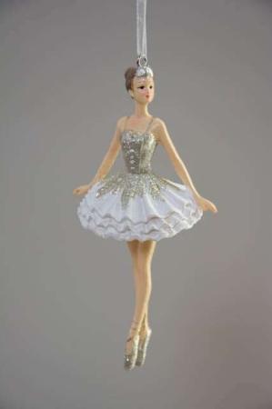 Ballerina til ophæng. Elegant ballerina-figur ornament. Julepynt 2020.