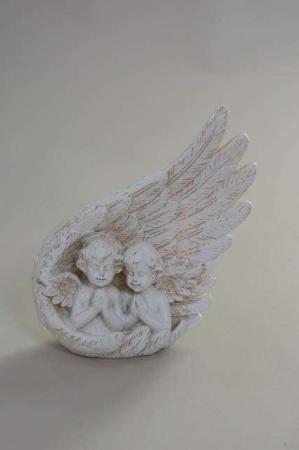 Bedende engle figur. Gravpynt med engle.