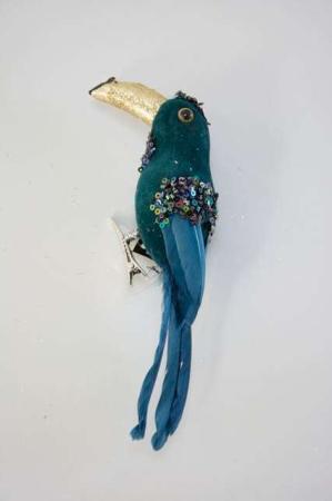 Blå papegøje på clips