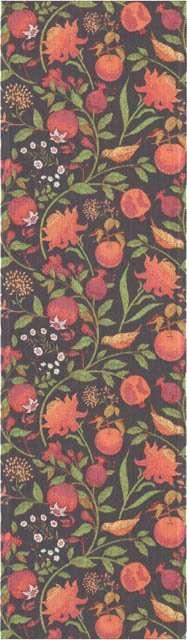 Bordløber af økologisk bomuld fra Ekelund - FRUKTRIK. Efterårsfrugter og farver