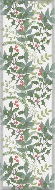 Bordløber af økologisk bomuld fra Ekelund -JULIA. Mistelten bær og gran