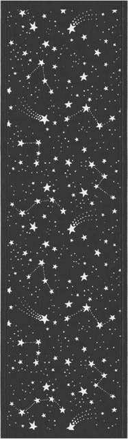 Bordløber af økologisk bomuld fra Ekelund - STJÄRNFALL. Stjernebilleder og stjerneskud