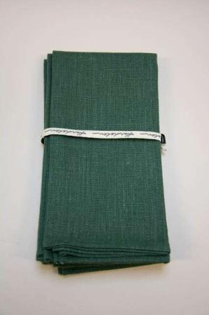 Grønne stof servietter af hør