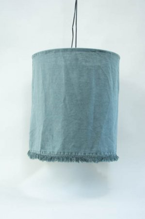 Hængelampe med stofskærm blå. Petroleusmblå stoflampeskærm fra ib laursen