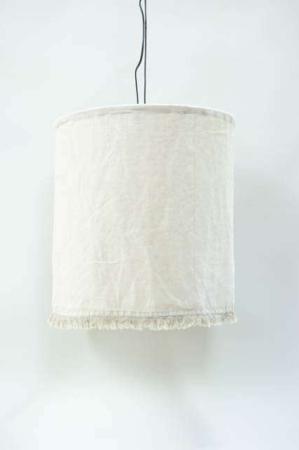 Hængelampe med stofskærm hvid. Beige stoflampeskærm fra ib laursen