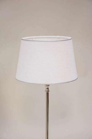 Hvid lampeskærm med sølvkant fra Lene Bjerre - rund